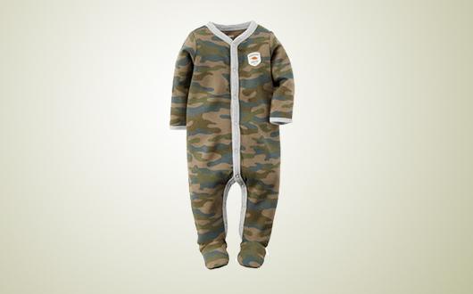 Carter's/卡特 宝宝爬行服/连体衣  酷帅迷彩款  6个月