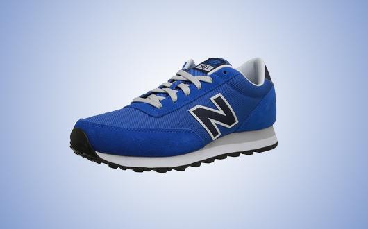 New Balance/NB 新百伦 男鞋ML501  慢跑鞋 蓝色麂皮运动休闲鞋10 D   国内44码